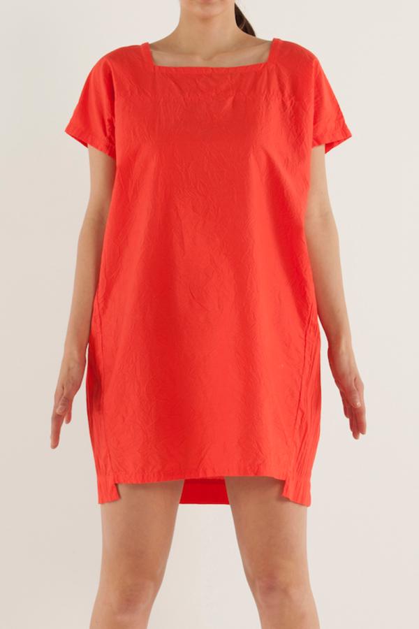 方型領寬鬆剪裁連身裙